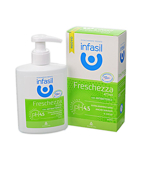 Infasil specialist intimo Freschezza Attiva, intimní gel s antibakteriálním složením 200 ml.