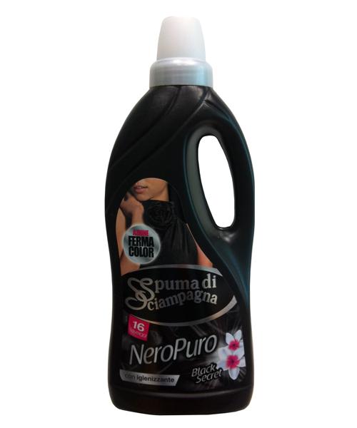 Spuma di Sciampagna Nero Puro, prací gel na tmavé oděvy 1,5 l., 25 pracích dávek