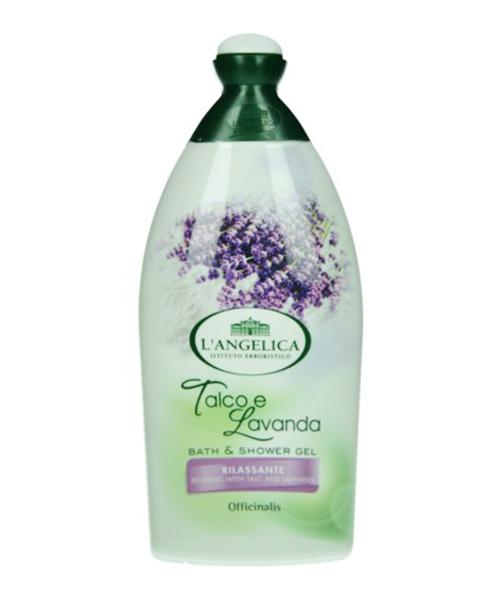 L´Angelica Officinalis Talco e Lavanda Rilassante, relaxační sprchová pěna s levandulí a pudrem 500 ml.
