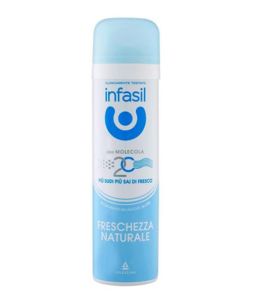 Infasil Deo Spray Freschezza Naturale, tělový deodorant 150 ml.