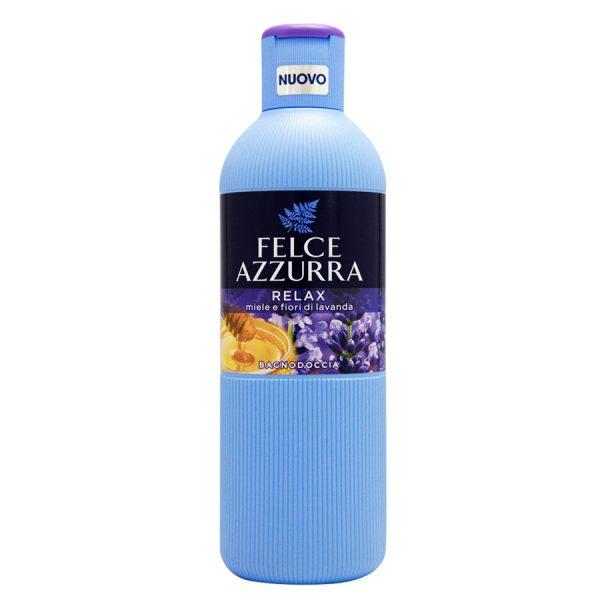 Felce Azzurra Relax Miele e Fiori di Lavanda, sprchový gel/koupelová pěna 650 ml.