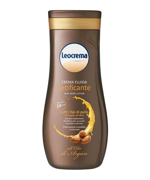 Leocrema Setificante all´Olio di Argan, hedvábné tělové mléko 250 ml.