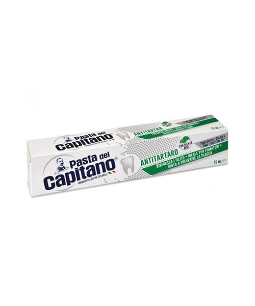 Pasta del Capitano Antitartaro, zubní pasta pro kuřáky s BIO mátou 75 ml.