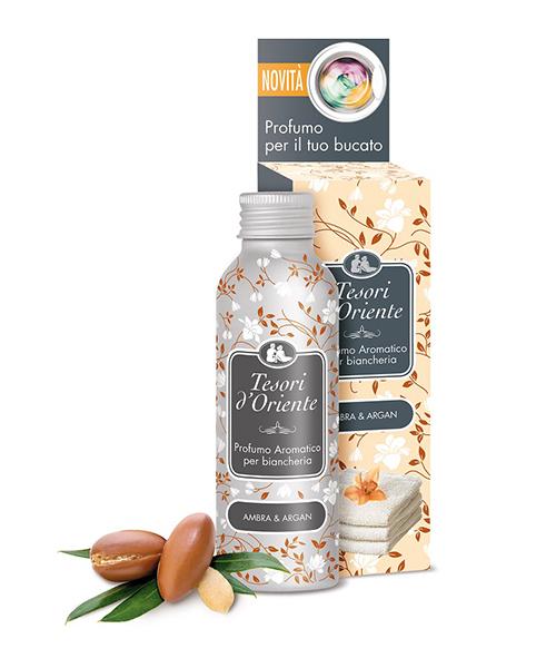 Tesori d´Oriente Ambra e Argan, koncentrovaný parfém na prádlo s vůní jantaru a arganu 100 ml.