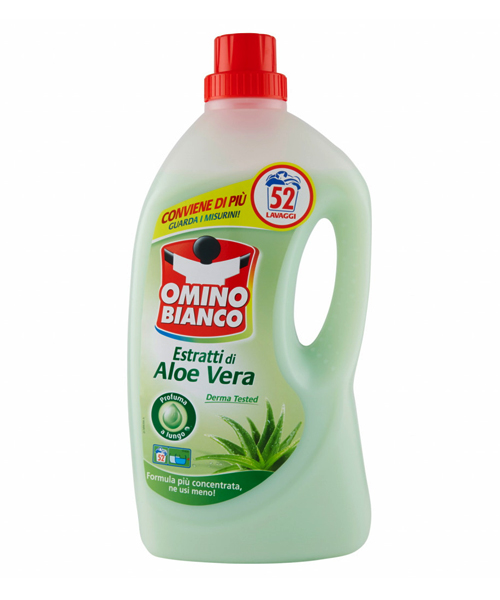 Omino Bianco Estratti di Aloe Vera, prací gel 2,6 l.