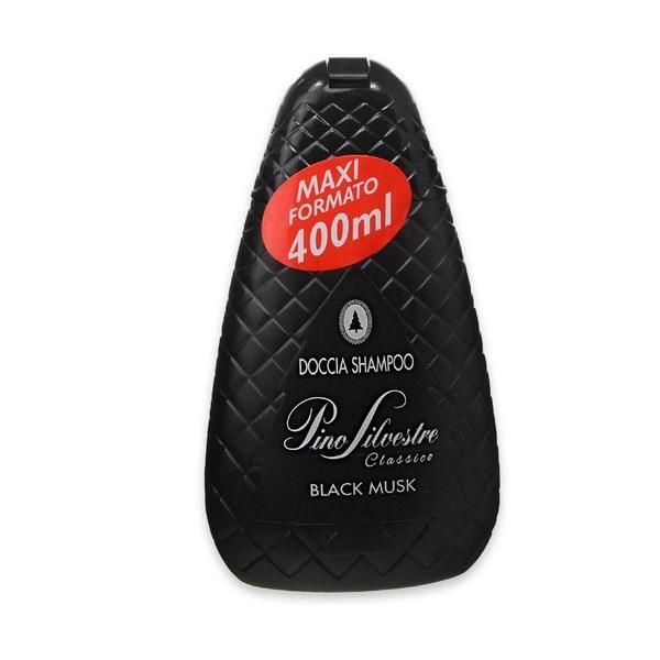Pino Silvestre Black Musk pánský sprchový šampón 400 ml.