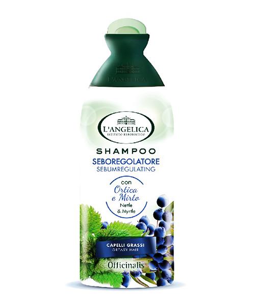 L´Angelica vlasový šampon Seboregolatore Ortica e Mirto 250 ml.