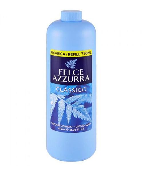 Felce Azzurra Sapone Liquido Classico, tekuté mýdlo 750 ml. - náplň