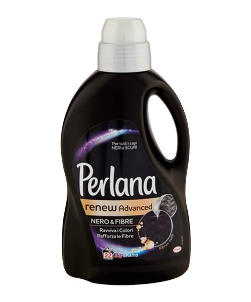 Perlana Renew Advanced Nero Fibre prací gel na černé a tmavé prádlo 1,5 l.
