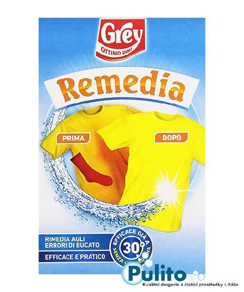 Grey Remedia, odbarvovač na omylem zabarvené prádlo 200 g.