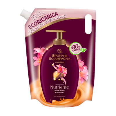 Spuma di Sciampagna Olio di Argan e Patchouli antibakteriální tekuté mýdlo 1,5 lt.