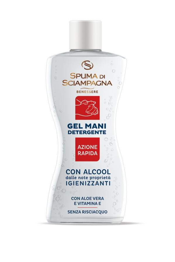 Spuma di Sciampagna Gel Mani Detergente Igienizzante, dezinfekční gel na ruce 100 ml.