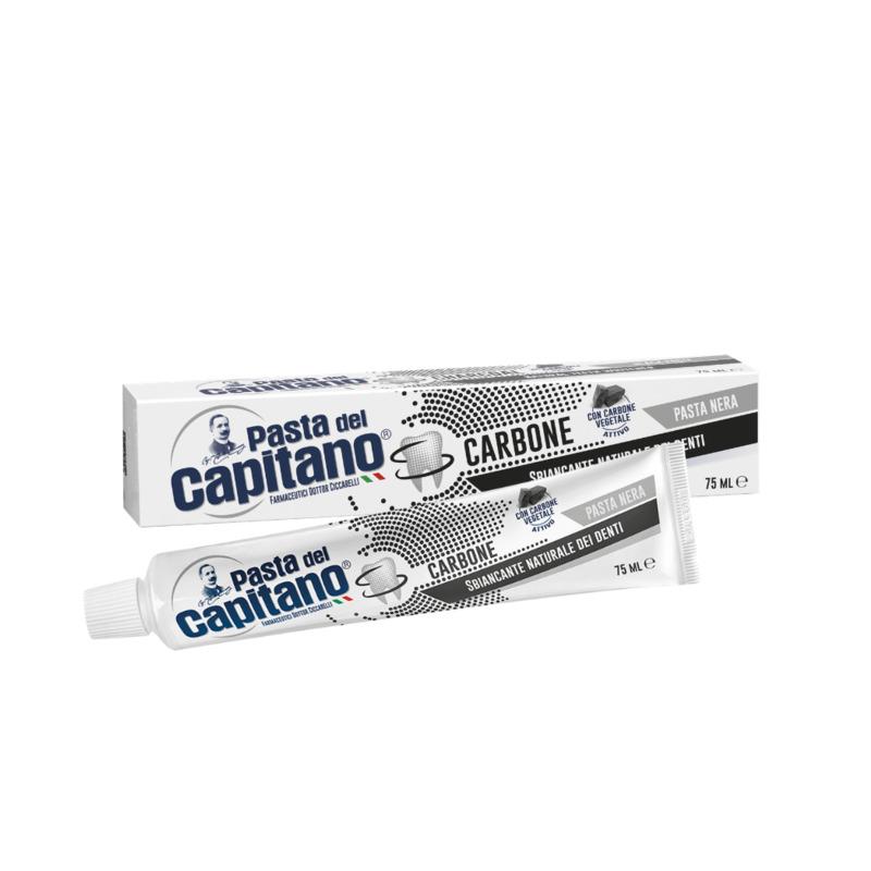 Pasta del Capitano Carbone Vegetale, zubní pasta s přírodním aktivním uhlím 100 ml.