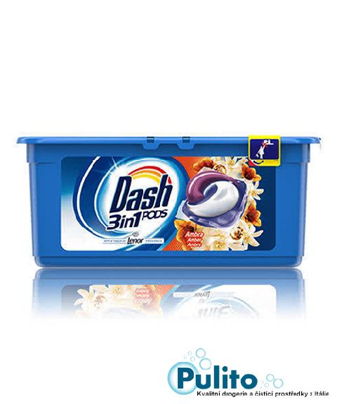 Dash All in 1 PODS Ambra gelové kapsle s aviváží Lenor 15 ks.