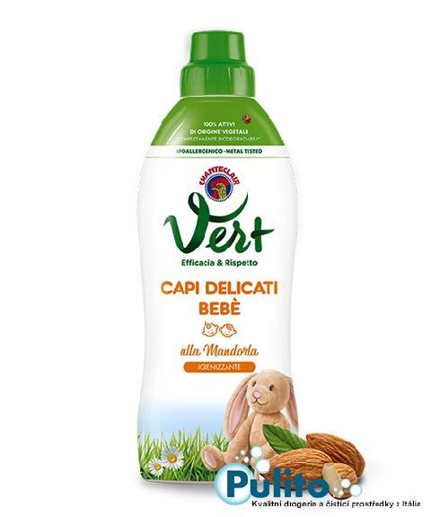Chanteclair Vert Capi Delicati Bebé alla Mandorla, dětský hypoalergenní prací gel 750 ml.