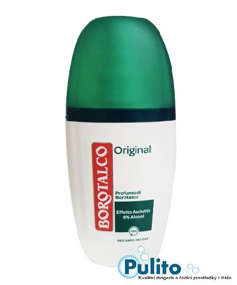 Borotalco Deo Vapo Original, tělový deodorant v rozprašovači 75 ml.