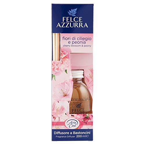 Felce Azzurra Diffusore a Bastoncini Fiori di Ciliegio e Peonia bytový parfém s tyčinkami 200 ml.