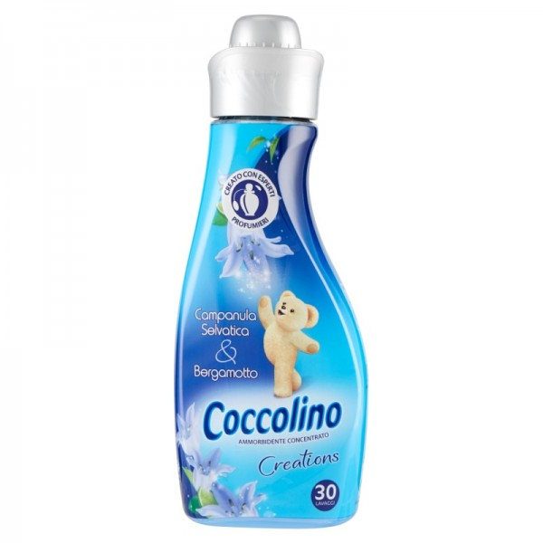 Coccolino Creations Campanula Selvatica & Bergamotto, koncentrovaná aviváž 750 ml., 30 PD