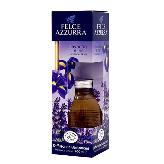 Felce Azzurra Diffusore a Bastoncini Lavanda e Iris bytový parfém s tyčinkami 200 ml.