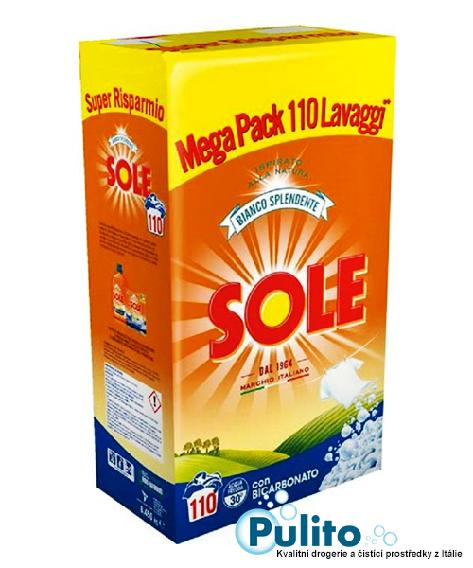 Sole Bianco Splendente con Bicarbonato, prací prášek 6,875 kg., 110 PD
