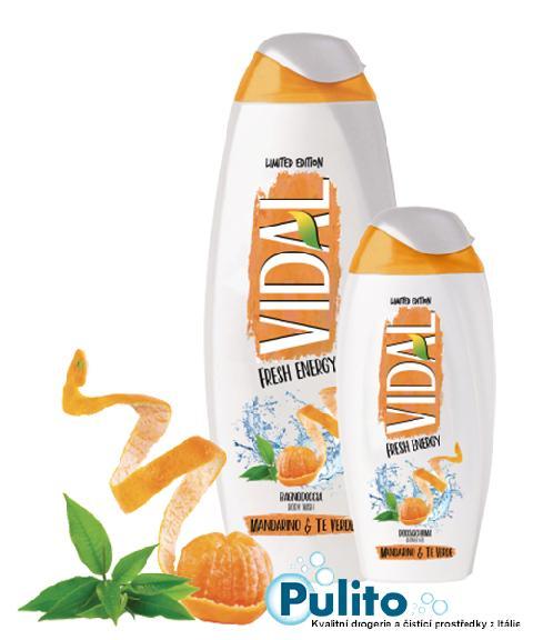 Vidal Fresh Energy Mandarino e Té Verde, sprchový gel/koupelová pěna 500 ml.