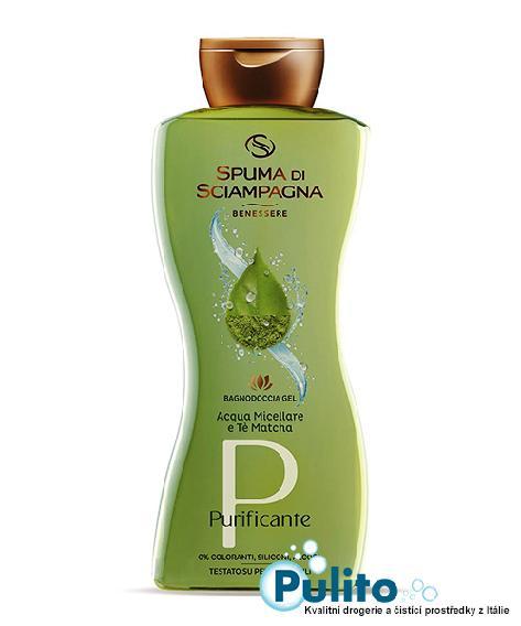 Spuma di Sciampagna Purificante Acqua Micellare e Té Matcha sprchový gel/koupelová pěna 500 ml.