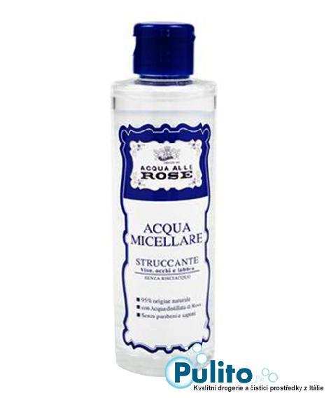 Acqua alle Rose Acqua Micellare Struccante, odličovací micelární voda s vodou z růží 200 ml.