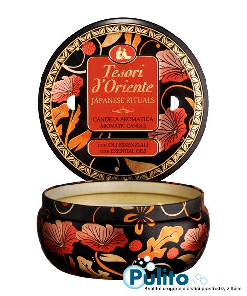 Tesori d´Oriente aromatická svíčka Japanese Rituals v plechové dóze 200 g.