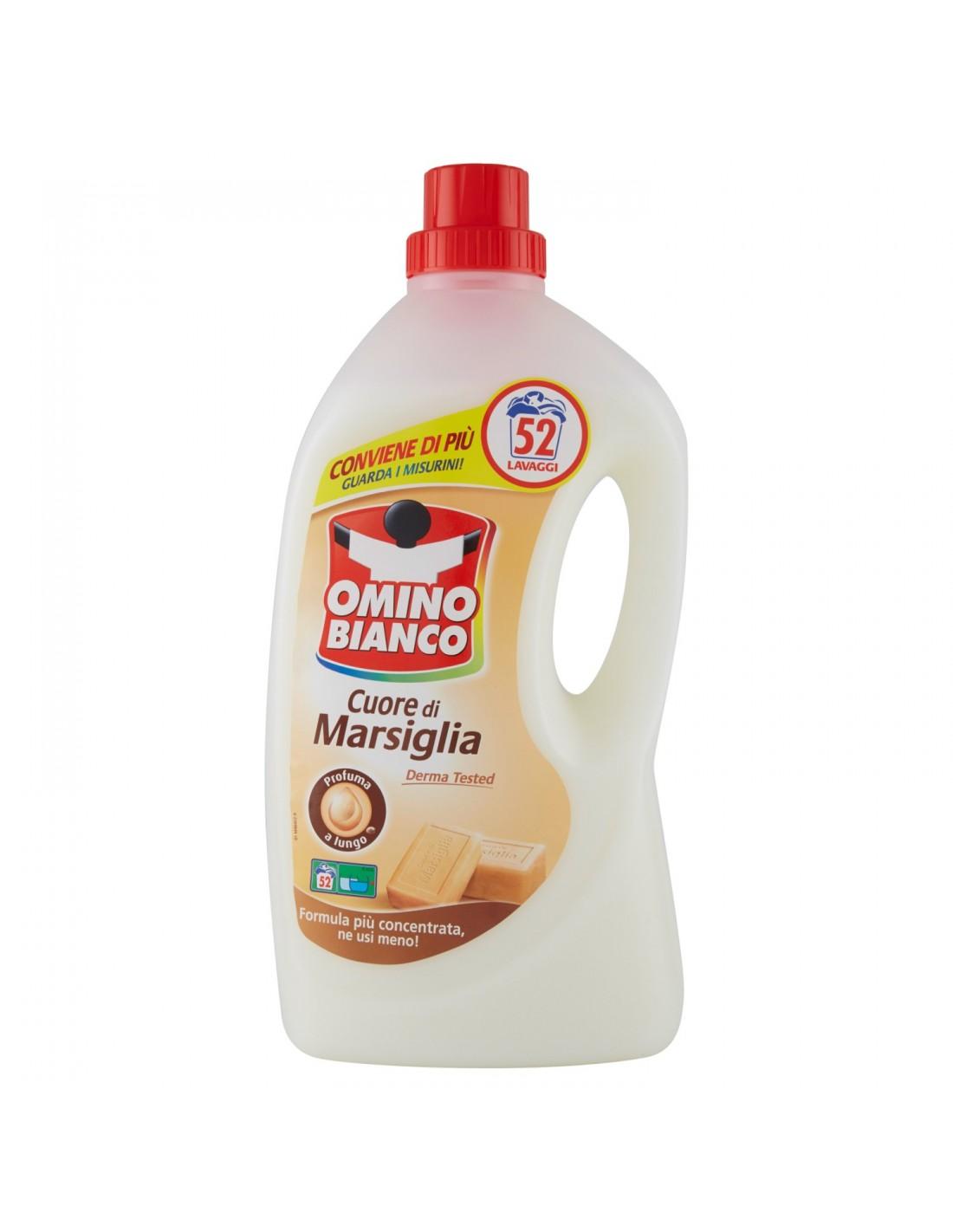 Omino Bianco Cuore di Marsiglia, prací gel 2,6 l. 52 PD