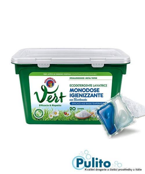 Chante Clair Vert Igienizzante con Bicarbonato, ekologické dezinfekční kapsle na praní 480 ml., 20 ks.