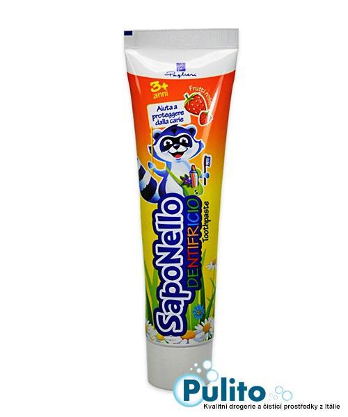 Saponello zubní pasta s fluorem příchuť červeného ovoce od 3 let 75 ml.