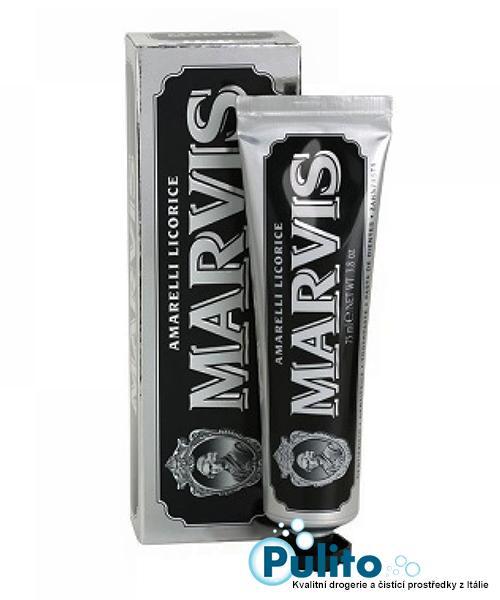 Marvis Amarelli Licorice zubní pasta s lékořicí a Xylitolem 85 ml.