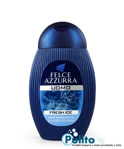Felce Azzurra Uomo Fresh Ice, pánský osvěžující sprchový šampón 400 ml.