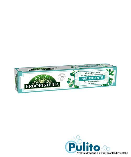 Antica Erboristeria Purificante Menta e Eucalipto, zubní pasta 75 ml.