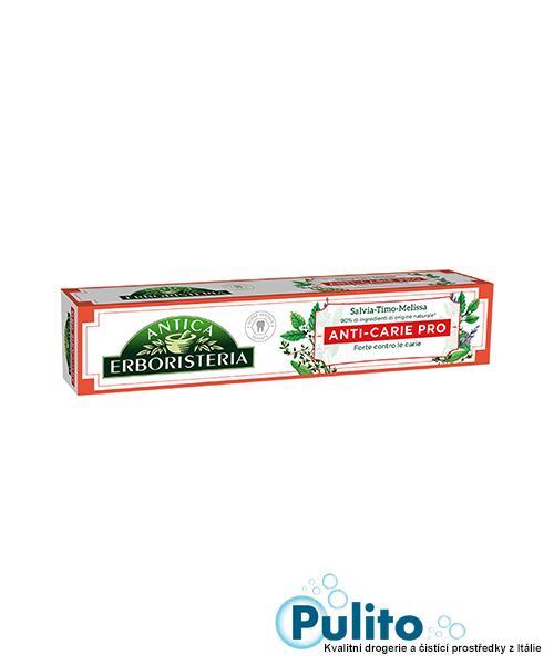 Antica Erboristeria Anti-Carie Pro, zubní pasta proti zubnímu kameni 75 ml.
