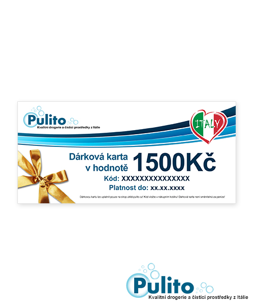 Dárková karta 1500