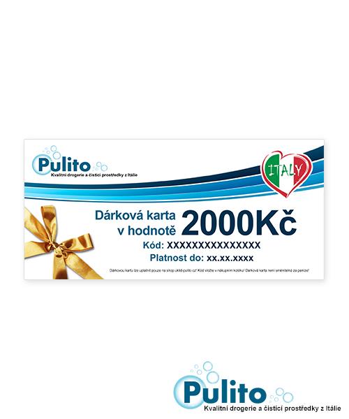 Dárková karta 2000