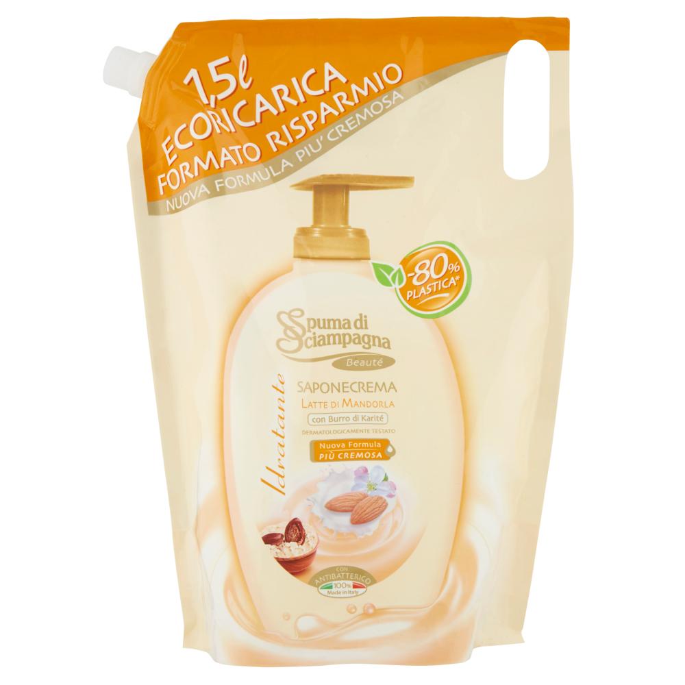 Spuma di Sciampagna Latte di Mandorla e Burro di Karité tekuté mýdlo 400 ml.