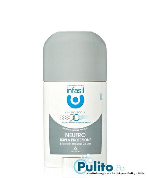 Infasil Deo Stick Neutro Tripla Protezione, tuhý deodorant 40 ml.