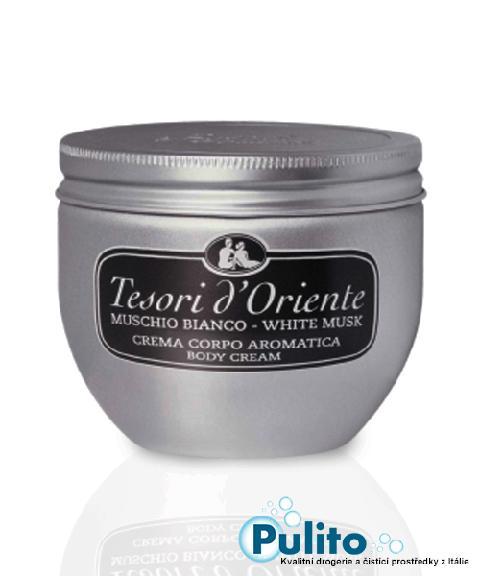 Tesori d´Oriente tělový krém Muschio Bianco 300 ml.