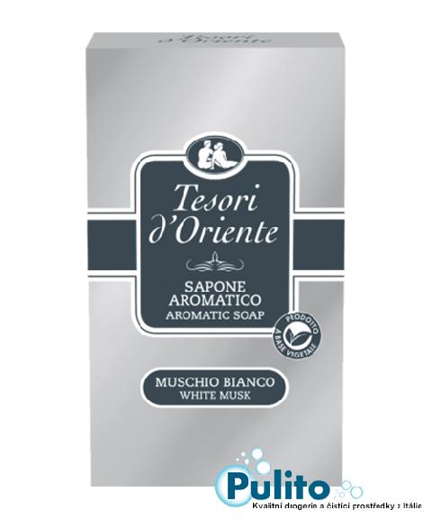 Tesori d´Oriente parfémované toaletní mýdlo Muschio Bianco 150 g.