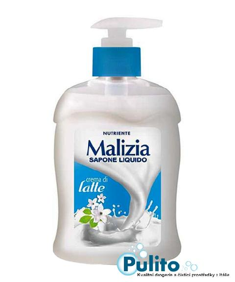 Malizia Crema di Latte, tekuté mýdlo s mléčnými proteiny 300 ml.