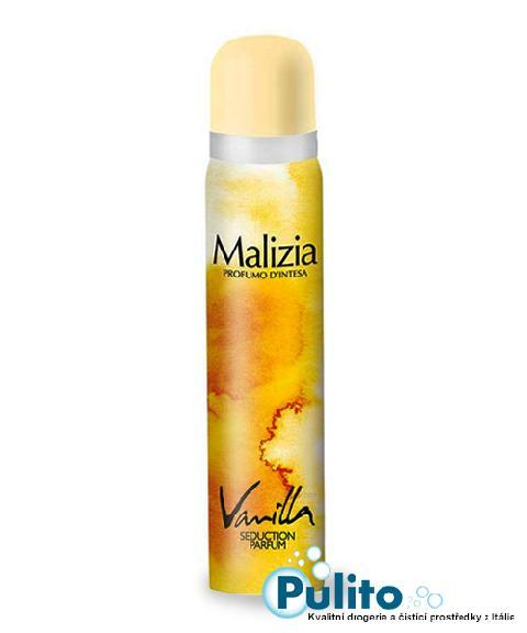 Malizia Deo Spray Vanilla, dámský tělový deodorant 100 ml.