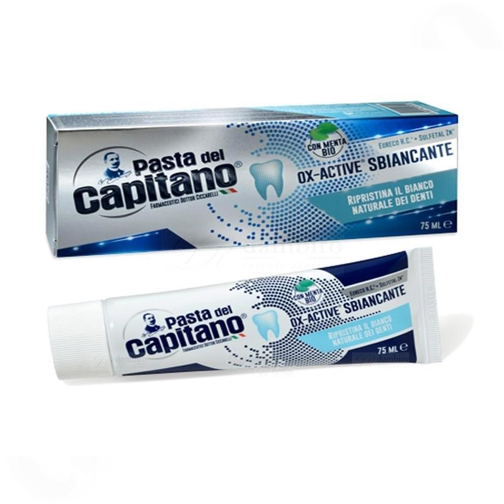 Pasta del Capitano Ox-Active® Sbiancante, bělící zubní pasta s BIO mátou 75 ml.