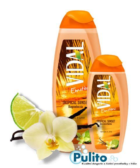 Vidal Emotions Tropical Sunset, sprchový gel/koupelová pěna 500 ml.