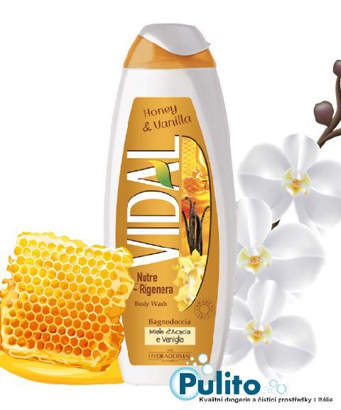 Vidal Honey/Vanilla, sprchový gel/koupelová pěna 500 ml.