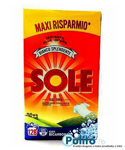 Sole Bianco Splendente con Bicarbonato, prací prášek 8 kg., 128 pracích dávek