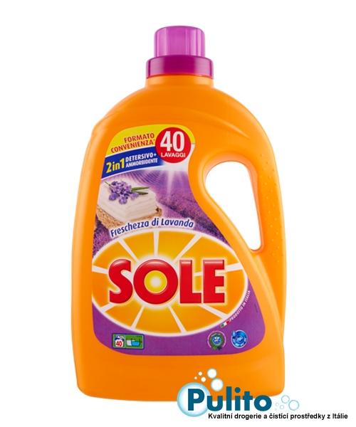 Sole prací gel Freschezza di Lavanda 2 l., 40 pracích dávek