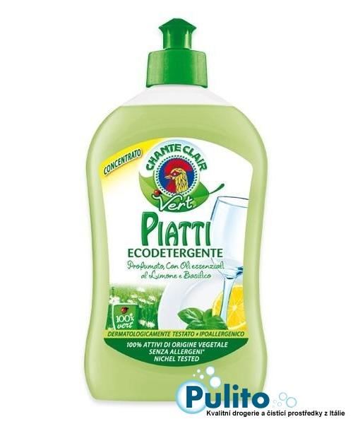 Chante Clair Vert Piatti Ecodetergente, ekologický jar koncentrát 500 ml.