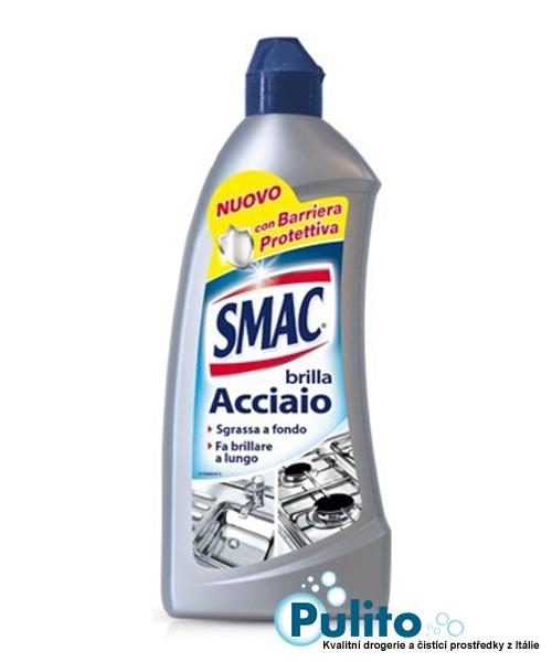 Smac Brilla Acciaio Crema, účinný přípravek na nerez 500 ml.